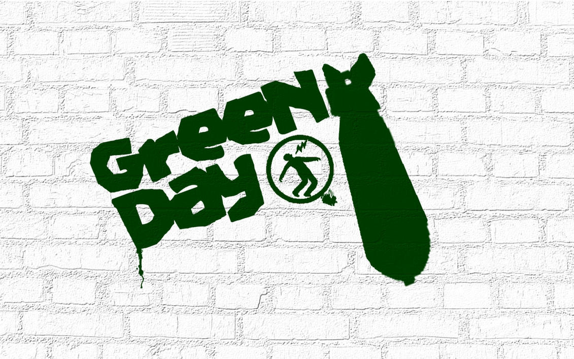 Green Day Graffiti Wallpaper by TheMajesticGoat