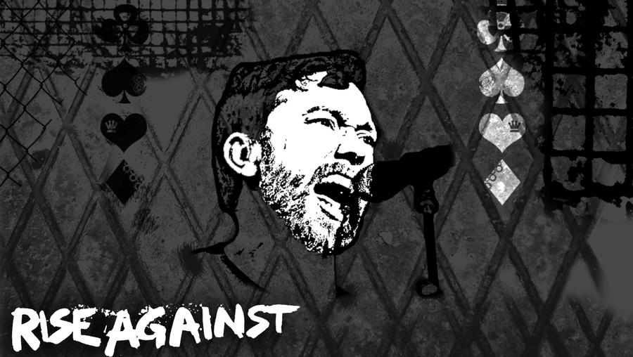 Gray Rise Against Wallpaper by TheMajesticGoat