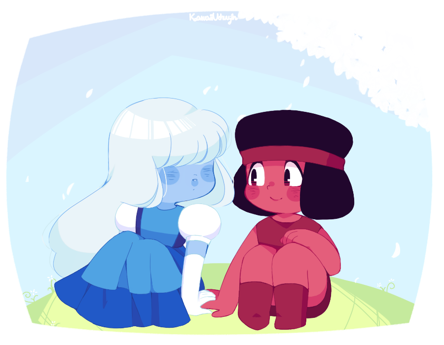 My darling made me back to watch Steven Universe and I'm just in love with this series right now.  For real, there's no cutest things than these characters  ♥