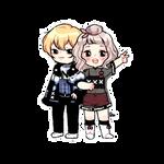 [Commission] Minji + Tokki by 12byo