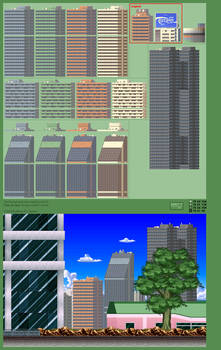 Background Props 1, Skyscrapers
