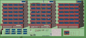 Background: Building 11, Saitama's apartment