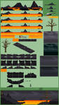 Background Compilation Volcanic Landscape