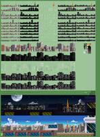 Background Props 2, Updated City Skyline by jebo14
