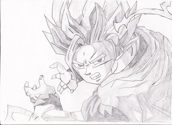 Goku super saiyan 2 drawing by smashbros2008