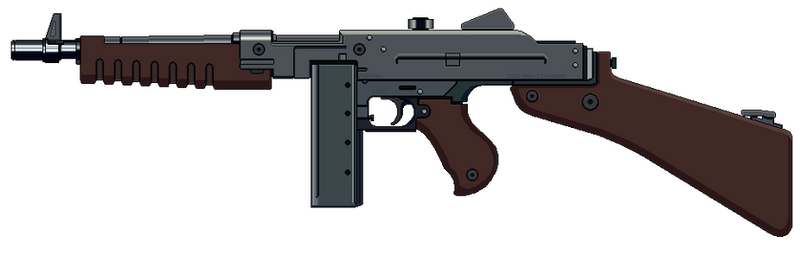Submachine Gun 1946 with stock