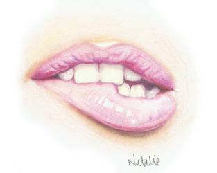 Lip Biter by naterie