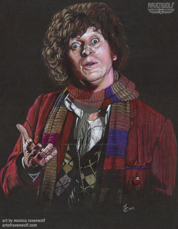 The 4th Doctor - Tom Baker by The-Art-of-Ravenwolf