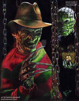 HELLRAISING NIGHTMARE - Freddy and Pinhead