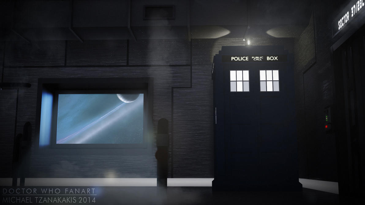 The TARDIS In A Space Station - Render 2 by MichaelTzan