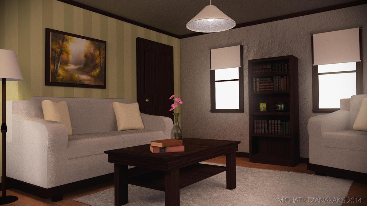 Cosy Living Room by MichaelTzan