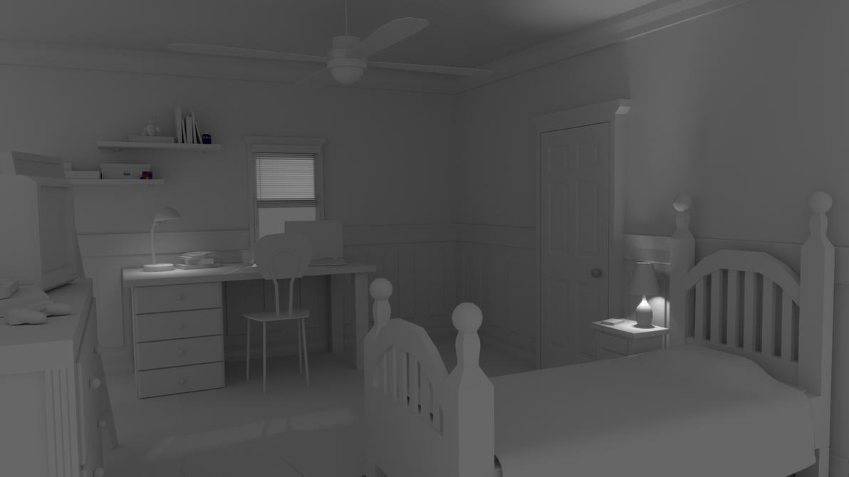 Teen's Bedroom by MichaelTzan