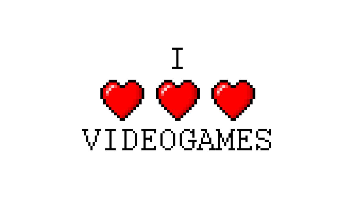 I Love Videogames Wallpaper (1920x1080) by MichaelTzan