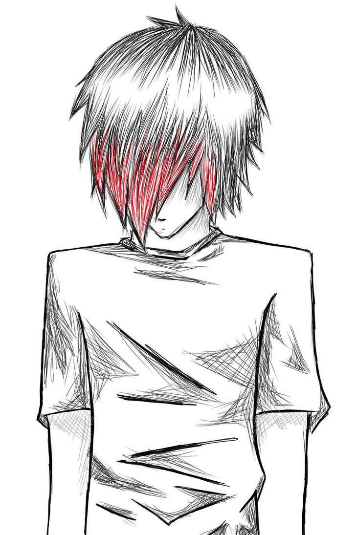 Emo Heartbreak Drawings Emo Drawings Emo Boy by