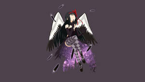 Minimalist Akemi Homura Devil (Akuma Homura) by fanjiwildanu
