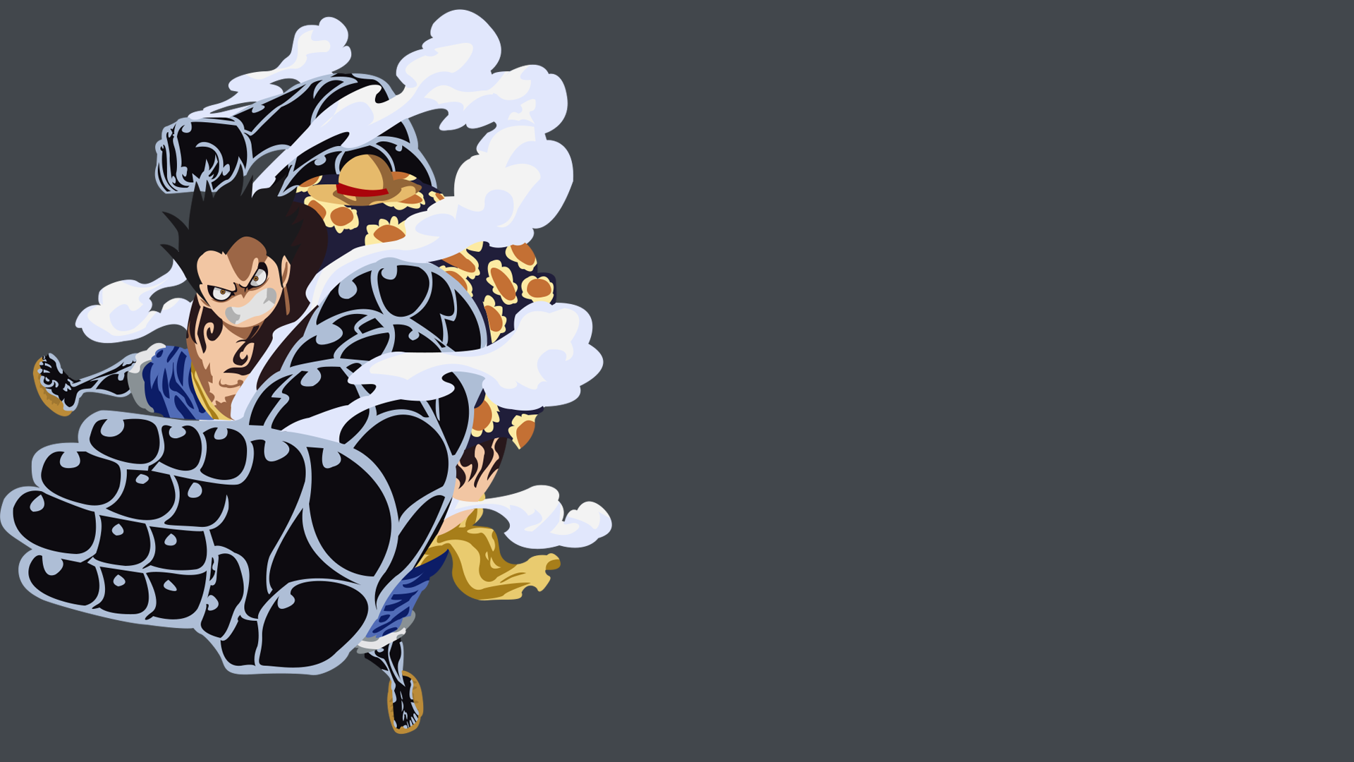 Minimalist Monkey D. Luffy Gear Fourth By Fanjiwildanu On
