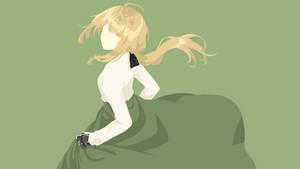 Minimalist Violet Evergarden by fanjiwildanu