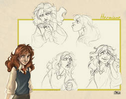 Hermione Sketches by IriusAbellatrix
