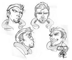 Character face model sheet 04 by IriusAbellatrix
