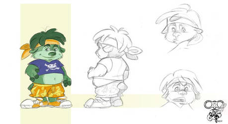 Mousky Model sheet