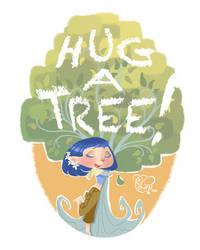 Hug a Tree by IriusAbellatrix