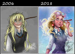 Before and After Luna Lovegood