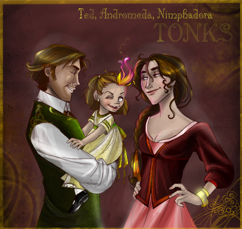 Familia Tonks by IriusAbellatrix