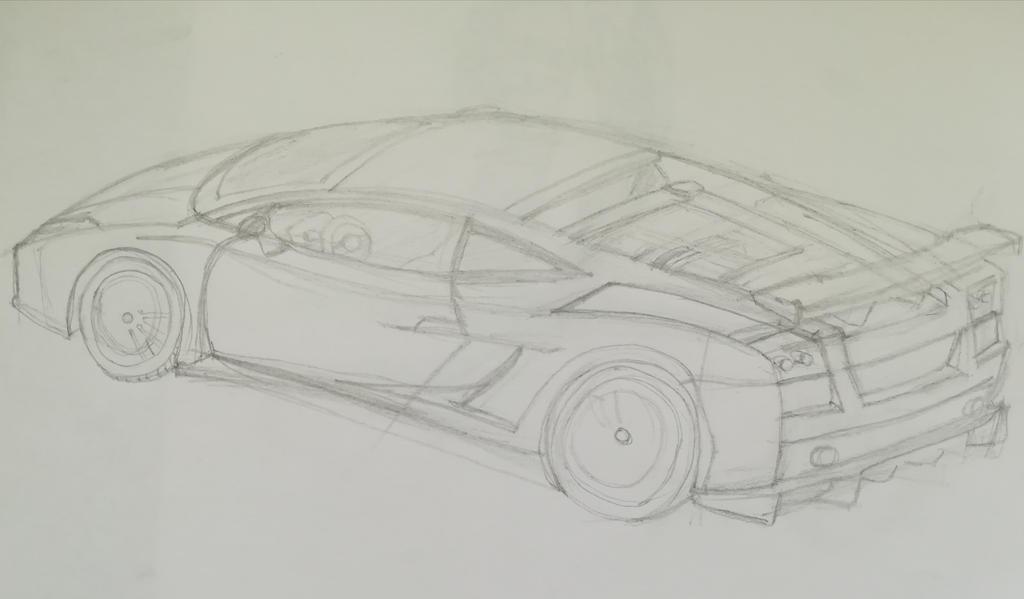 Lamborghini Gallardo sketch by Andrix9743
