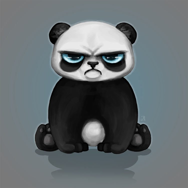 grumpy panda by sheppard56 on deviantart