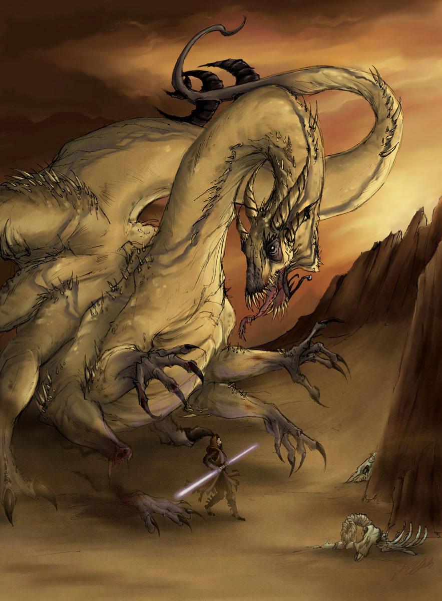 Krayt Dragon by jeddibub