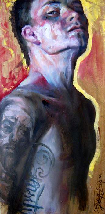 Selfportrait with Malczewski by nailone