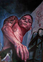 Selfportrait with big canvas by nailone