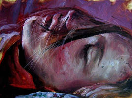 Sleeping girl by nailone