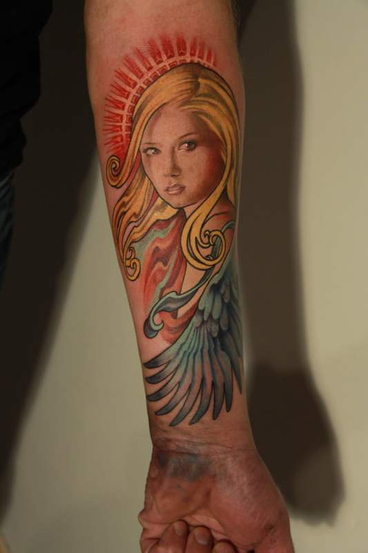 Angel tattoo by nailone