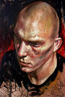 Selfportrait with shaved head2 by nailone