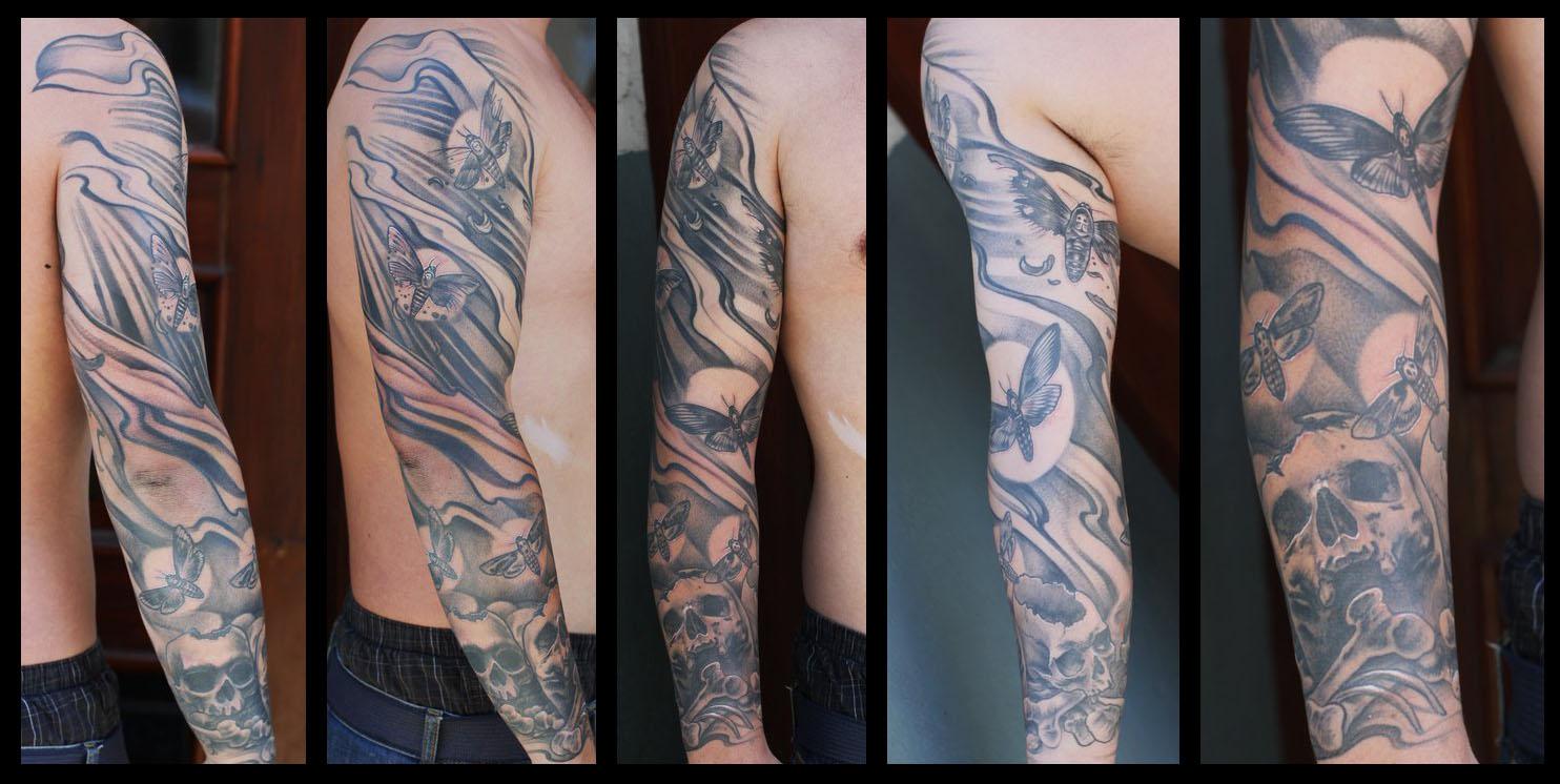 Medusa Tattoo Sleeve Moth sleeve by nailoneVersace Medusa Tattoo Sleeve