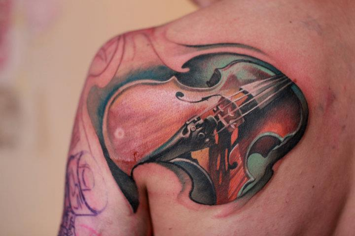 violin tattoo by nailone on deviantart. Black Bedroom Furniture Sets. Home Design Ideas