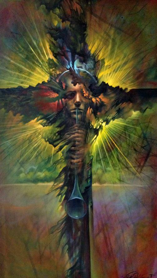 Tribute to Beksinski by nailone