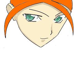 my first online girl manga face by LightningAsuna
