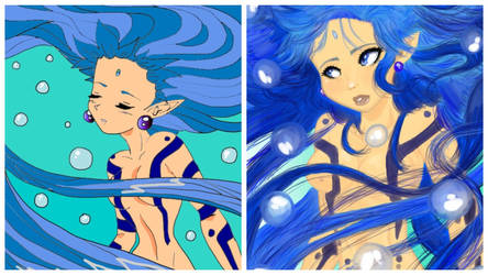 Water Goddess Comparison by The-Ravulture