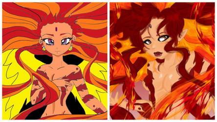Fire Goddess Comparison by The-Ravulture
