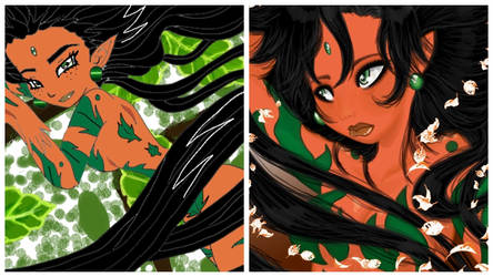 Goddess of Nature Comparison Photo by The-Ravulture