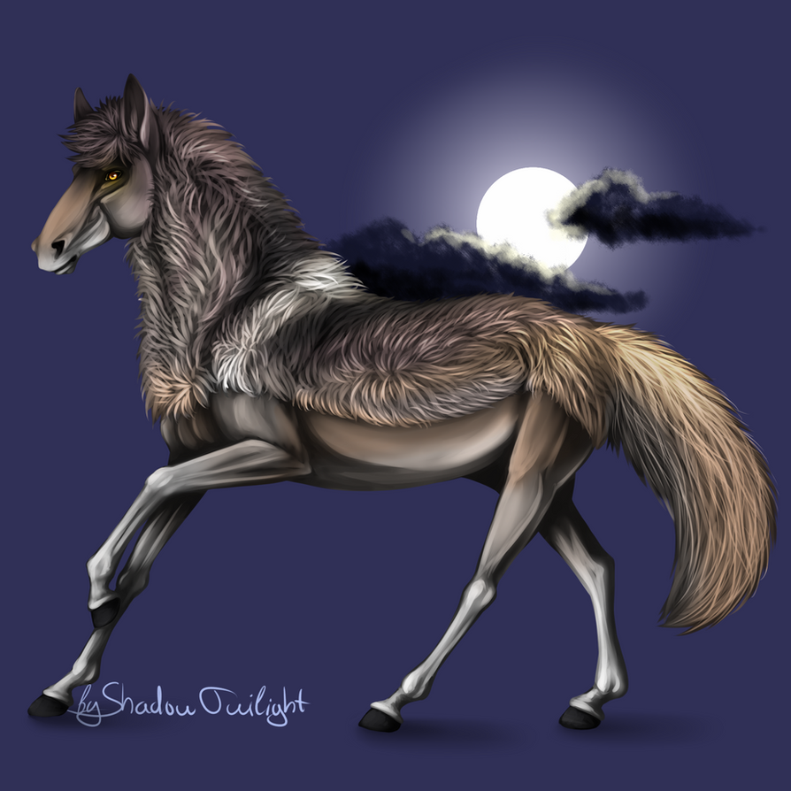 Werewolf horse by Shadow--Twilight