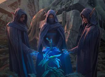 Grovetender Druids by chasestone
