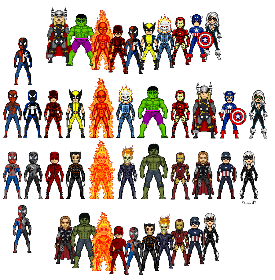 Marvel Heroes Comparison By Winter Phantom On Deviantart