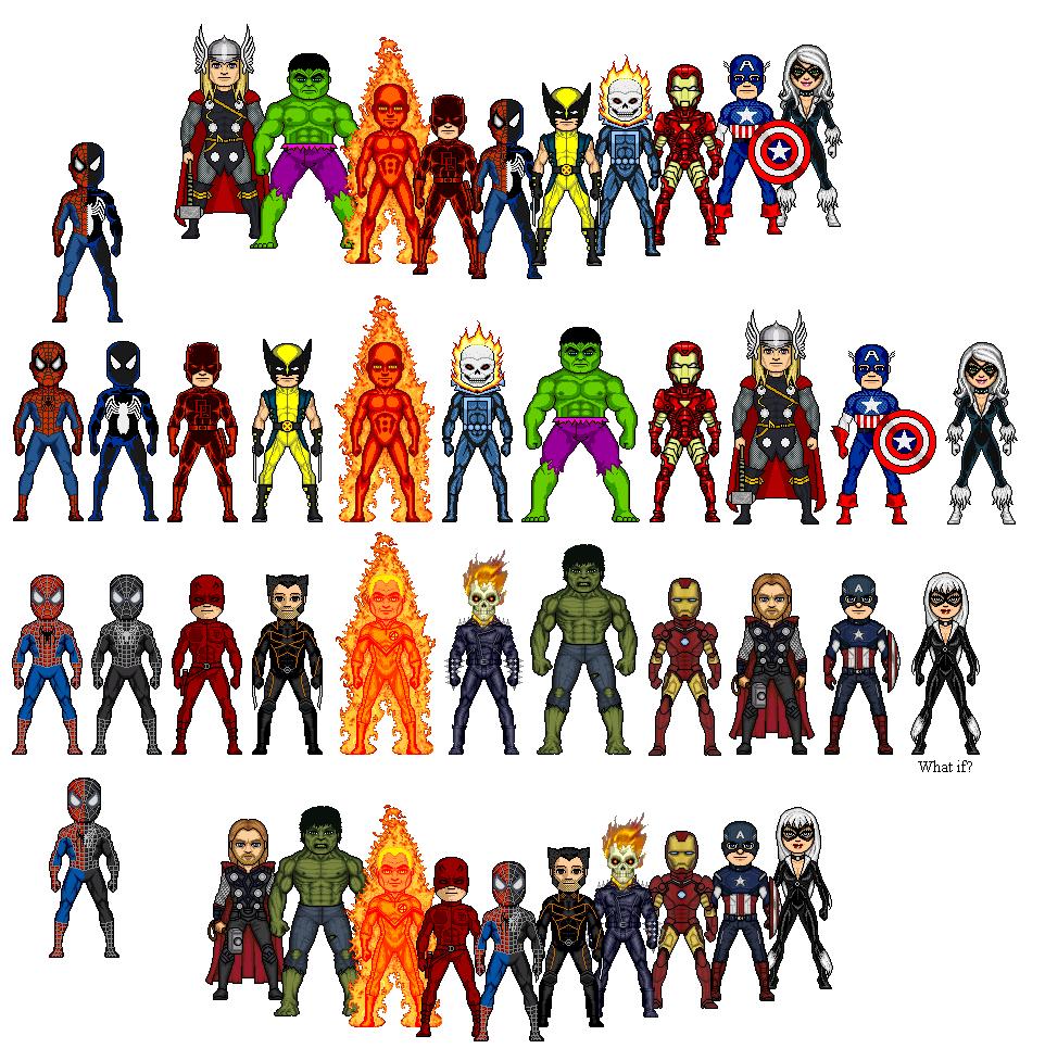 все персонажи марвел список с картинками этой модели