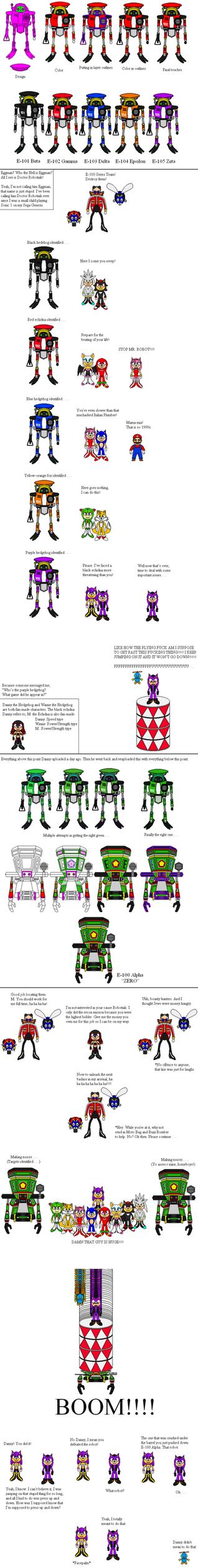 Doctor Robotnik's E-100 Series by Winter-Phantom on DeviantArt