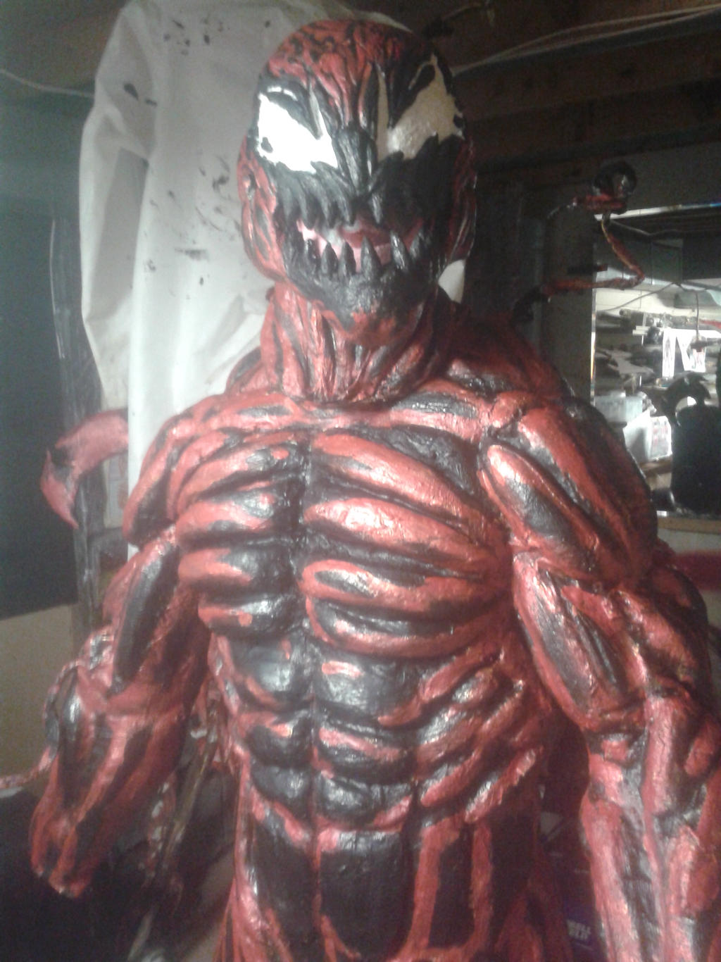 carnage costume painted by mongrelman on DeviantArt