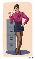 Gendertypes - The Sexy Secretary by Eves-Rib