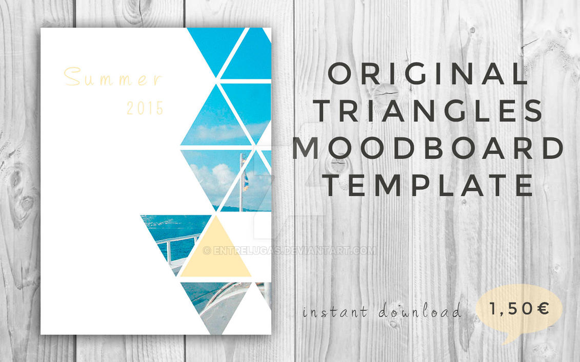 Triangles moodboard. Collage template for photos. by entrelugas on ...